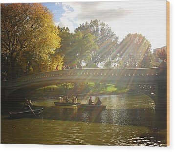 Sunlight And Boats - Central Park -  New York City Wood Print by Vivienne Gucwa