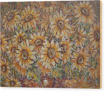 Wood Print featuring the painting Sunlight Bouquet. by Natalie Holland