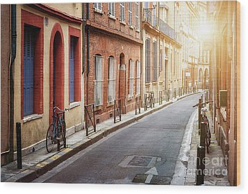Wood Print featuring the photograph Sunlight In Toulouse by Elena Elisseeva