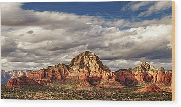 Wood Print featuring the photograph Sunlight On Sedona by James Eddy