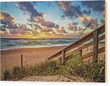 Wood Print featuring the photograph Sunlight On The Sand by Debra and Dave Vanderlaan