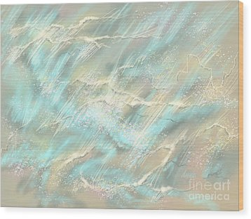Wood Print featuring the digital art Sunlight On Water by Amyla Silverflame