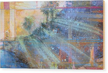 Wood Print featuring the painting Sunlight Streaks by Andrew King