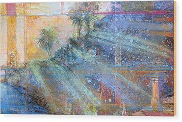 Sunlight Streaks Wood Print by Andrew King