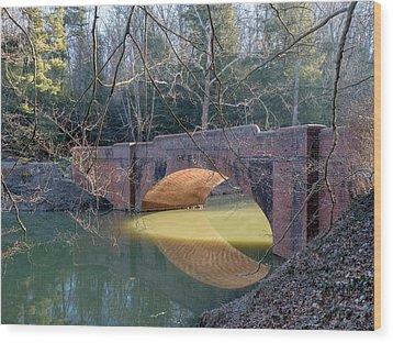 Sunlight Under Bridge Wood Print