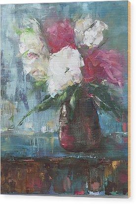 Sunlit Bouquet Wood Print