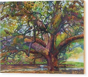 Sunlit Century Tree Wood Print