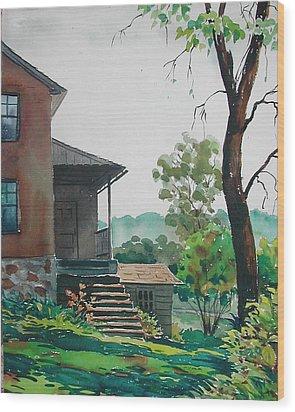 Sunlit Steps Wood Print by Faye Ziegler