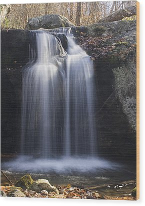 Wood Print featuring the photograph Sunlit Streams by Alan Raasch