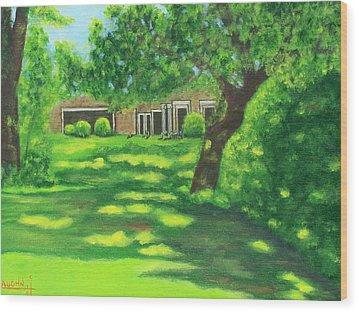 Sunlit View Wood Print by Charles Vaughn