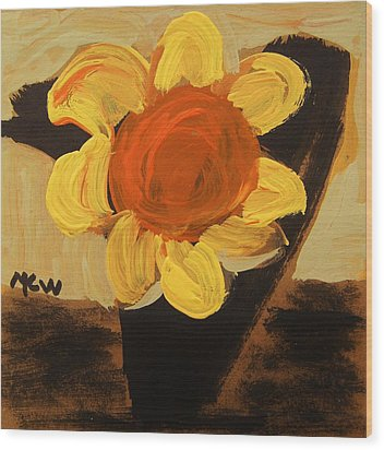 Sunny And Black Wood Print by Mary Carol Williams