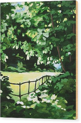Sunny Clearing Wood Print