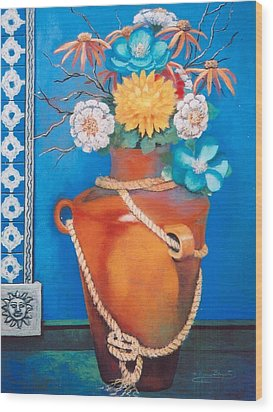 Wood Print featuring the painting Sunny Disposition by M Diane Bonaparte