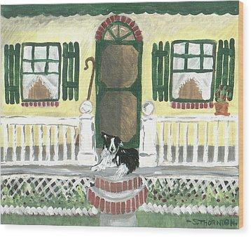 Sunny Porch Wood Print by Sue Ann Thornton