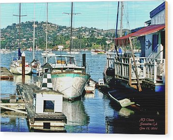 Sunny Sausalito Wood Print by Michael Cleere