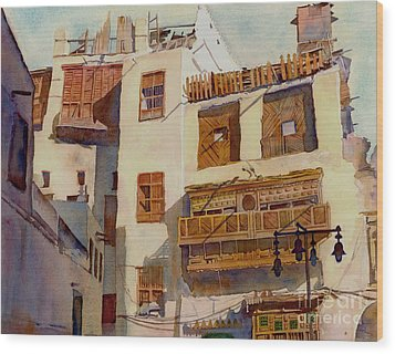 Sunny Shutters Arabia Wood Print by Dorothy Boyer