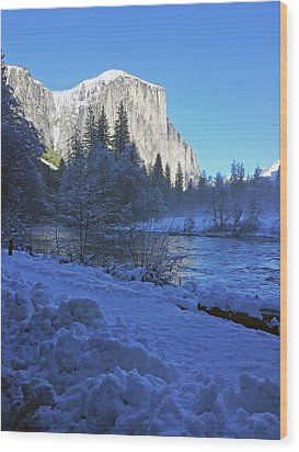 Wood Print featuring the photograph Sunny Winter Day 01 13 17 by Walter Fahmy