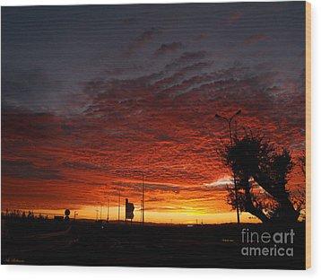 Sunrise 01 Wood Print by Arik Baltinester