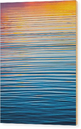 Sunrise Abstract  Wood Print by Parker Cunningham
