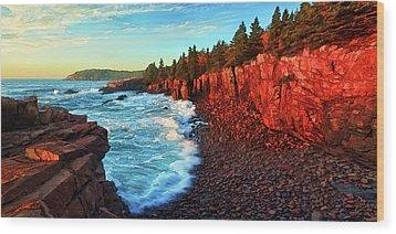 Sunrise At Acadia Wood Print