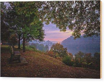 Sunrise At River Rd  Wood Print