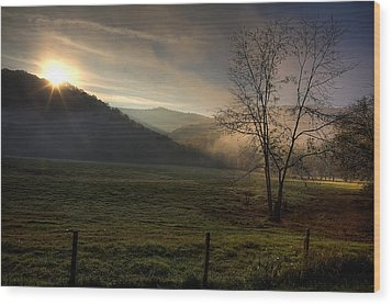 Wood Print featuring the photograph Sunrise At Big Hollow by Michael Dougherty