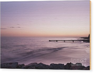 Wood Print featuring the photograph Sunrise At Busselton by Ivy Ho