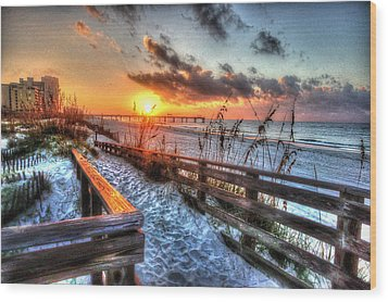 Sunrise At Cotton Bayou  Wood Print by Michael Thomas