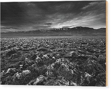 Sunrise At Devil's Golf Course, Death Valley, Deat Wood Print by David Kiene