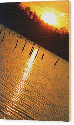 Sunrise At East Fork Oh Wood Print
