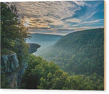Sunrise At Hawksbill Crag Wood Print