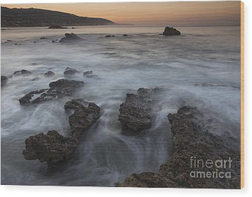Wood Print featuring the photograph Sunrise At Laguna Beach II by Keith Kapple