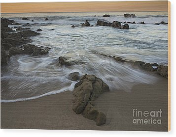 Wood Print featuring the photograph Sunrise At Laguna Beach by Keith Kapple