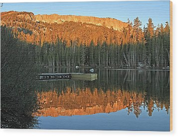 Wood Print featuring the photograph Sunrise At Lake Mamie by Donna Kennedy