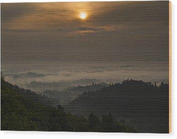 Sunrise At Panorama Hill Wood Print by Ng Hock How