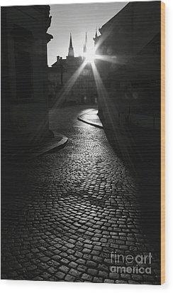 Sunrise At Prague Wood Print by Hideaki Sakurai