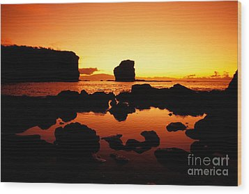 Sunrise At Puu Pehe Wood Print by Ron Dahlquist - Printscapes