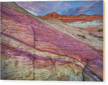 Wood Print featuring the photograph Sunrise At Rainbow Rock by Darren White