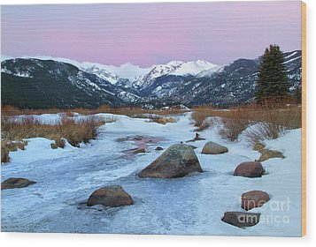 Sunrise At Rocky Mountain National Park Wood Print by Ronda Kimbrow