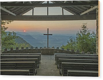 Sunrise At Symmes Chapel Aka Pretty Place  Greenville Sc Wood Print