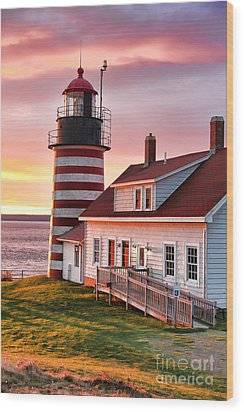 West Quoddy Head Lighthouse 3747 Wood Print