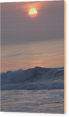 Sunrise At Wrightsville Beach Wood Print