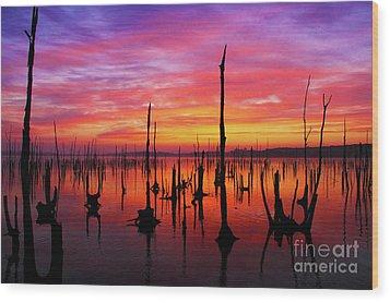 Sunrise Awaits Wood Print