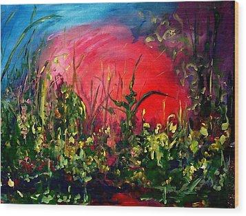 Sunrise Blooming Wood Print by Ellen Seymour