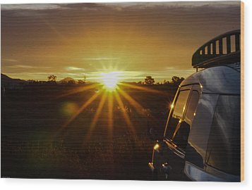 Sunrise And My Ride Wood Print