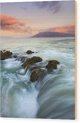 Sunrise Drain Wood Print by Mike  Dawson