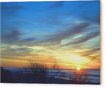 Sunrise Dune I I Wood Print