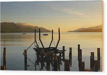 Sunrise From Governors Bay Wood Print by Barry Culling