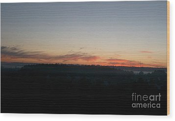 Wood Print featuring the photograph Sunrise From The Midnight Train To Moscow by Robert D McBain