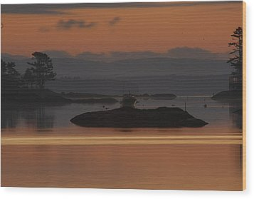 Wood Print featuring the photograph Sunrise In Blue Hill I by Greg DeBeck